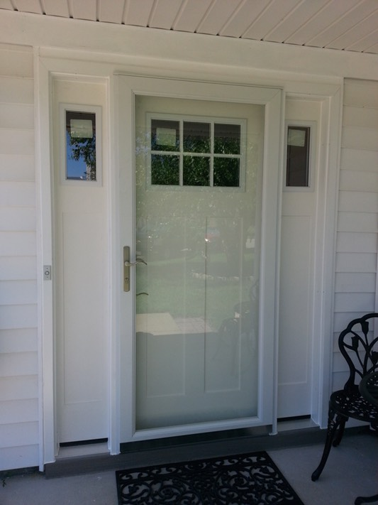 Smooth Fibergl Craftsman Style Entrance Door With Sidelights And Secure Elegance Impact Resistant Storm Multi Point Locks